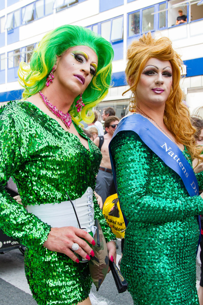 Drag Queens at Copenhagen Pride Green