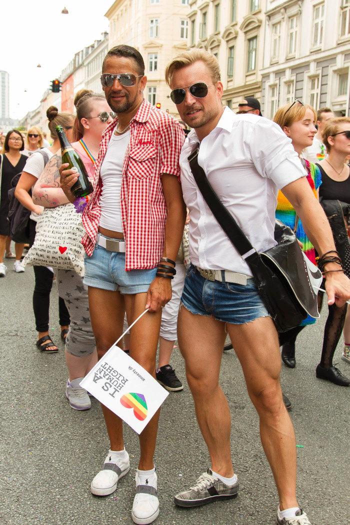 Fit couple at Copenhagen Pride