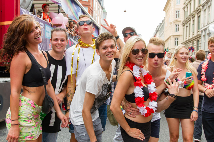 Friends at Copenhagen Pride