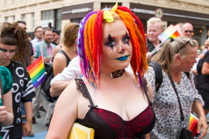 Goth Clown at Copenhagen Pride