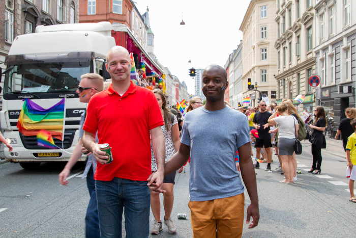 Interracial Couple at Copenhagen Pride