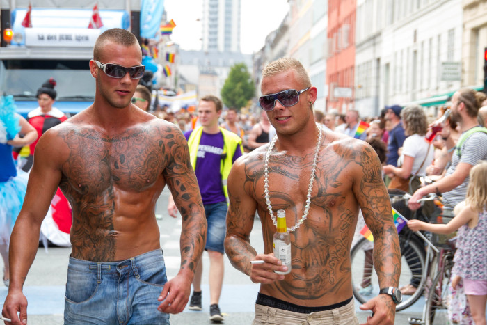 Muscle and Tattoos at Copenhagen Pride