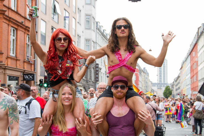 Riding friends at Copenhagen Pride