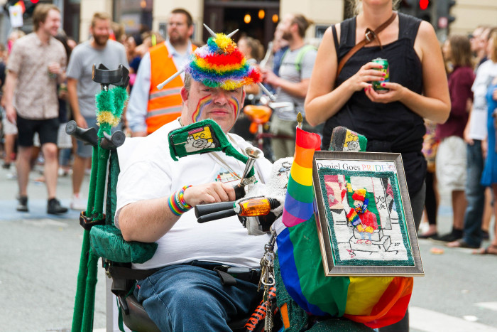 Scooter at Copenhagen Pride