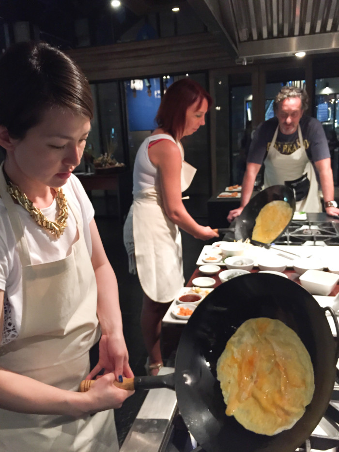 Omelette at Indigo Pearl Cooking Class