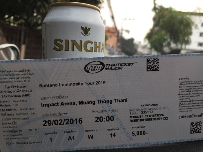 Singha Experience Carlos Santana Bangkok