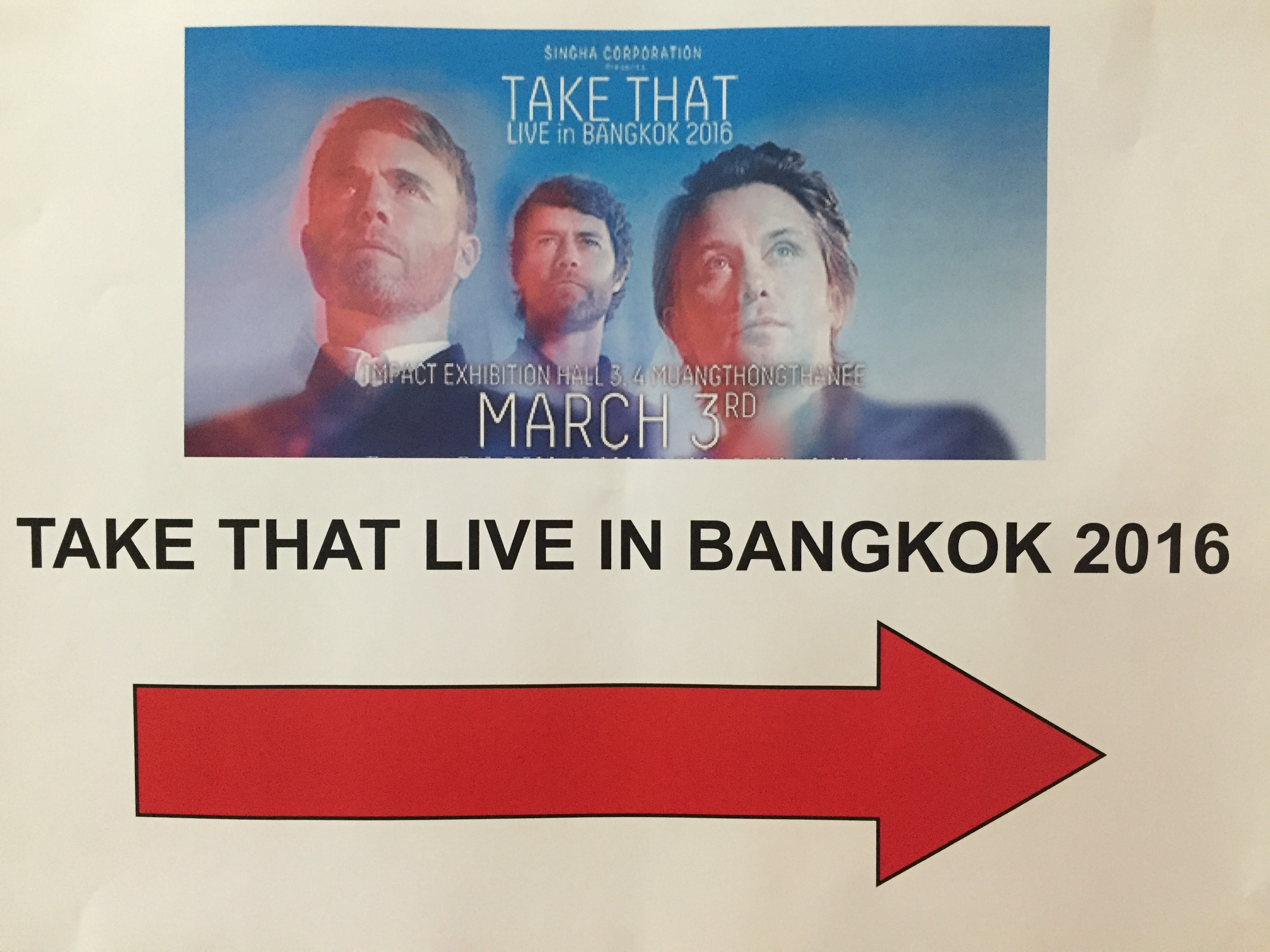 Take That Concert in Bangkok with Singha Experience