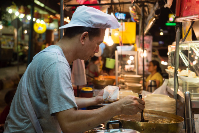 Vendor Checks Thai Soup in Bangkok WithLocals.com