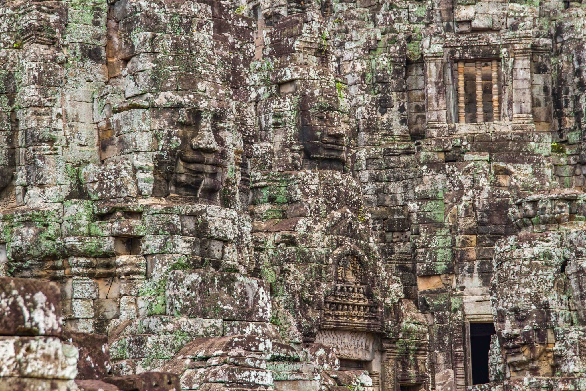 Bayon Faces at Angkor Thom Cambodia
