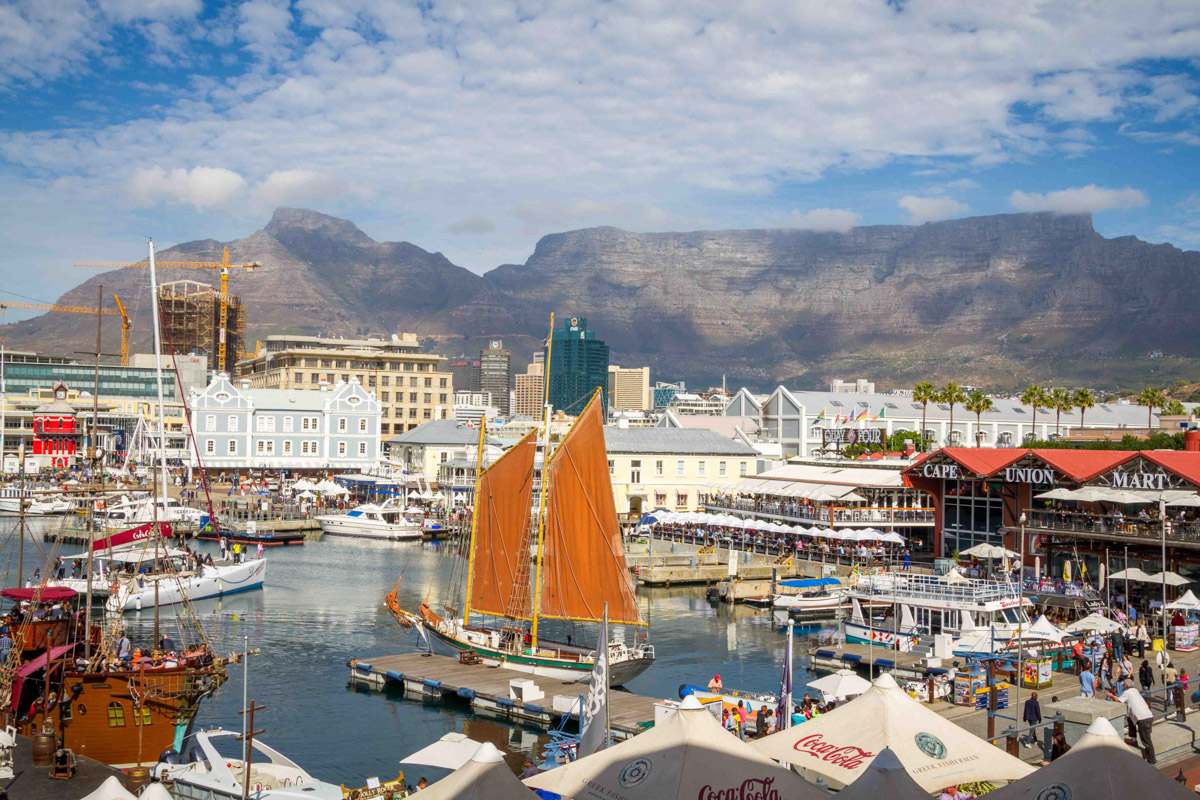V&A Waterfront with Table Mountain Cape Town South Africa