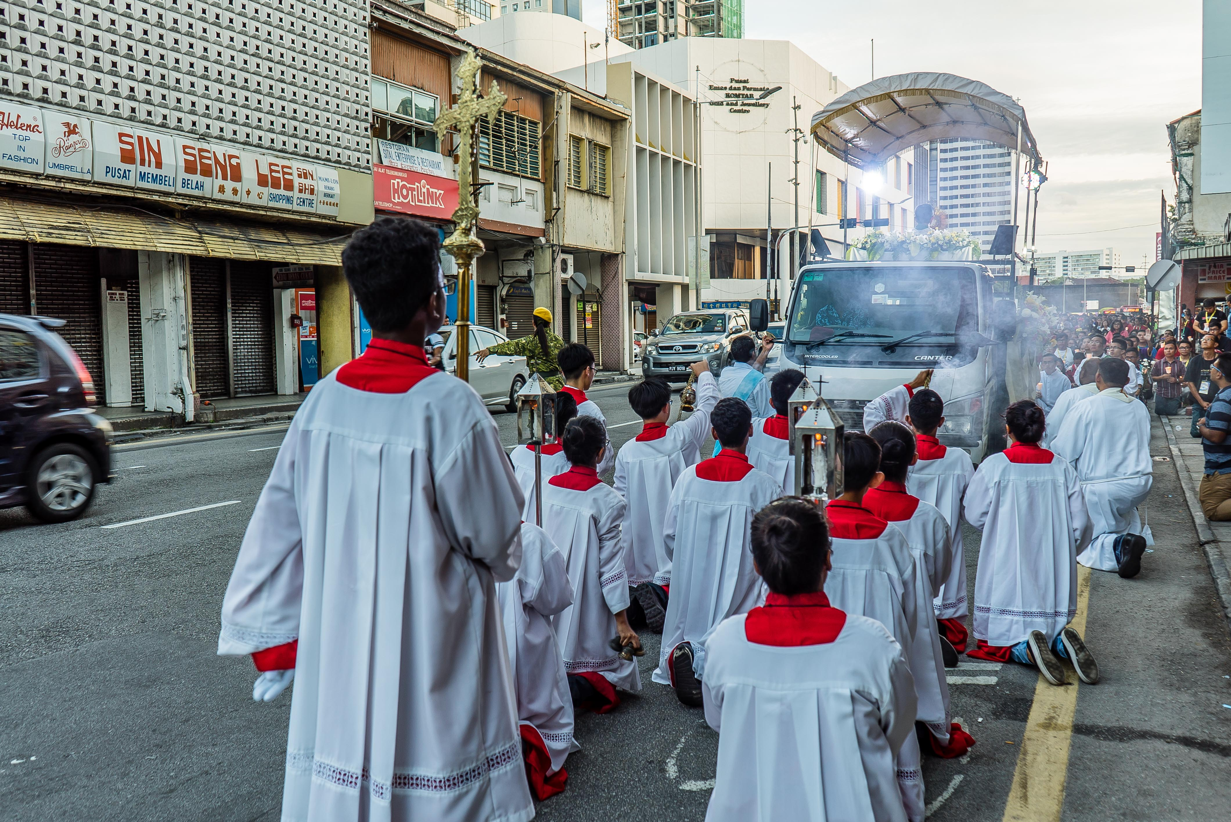 Catholic Procession in Georgetown Penang