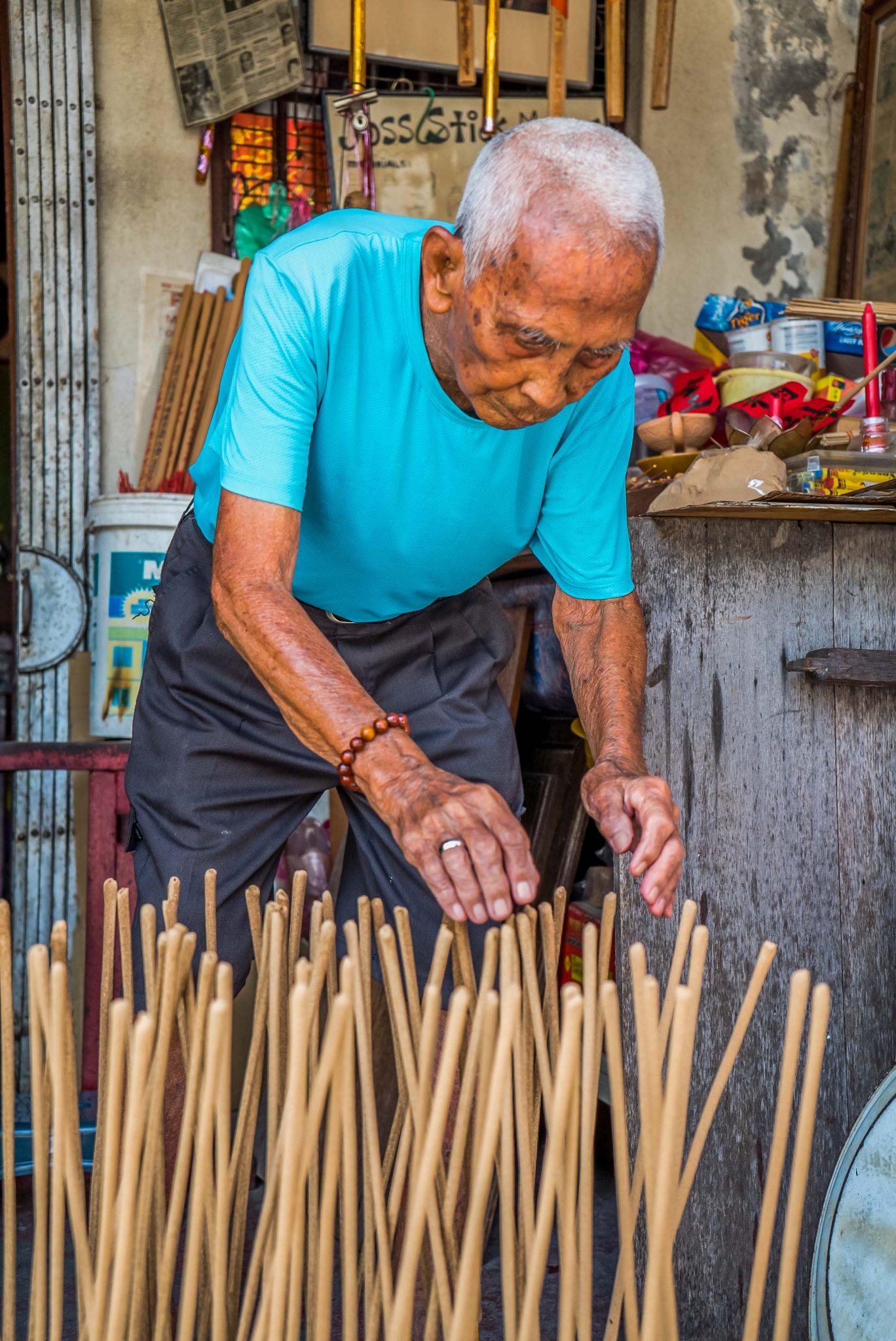 Lee Beng Chuan The Joss Stick Maker Penang