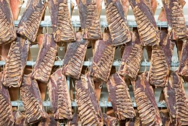 Pork Ribs curing with Italian Days Bologna Italy